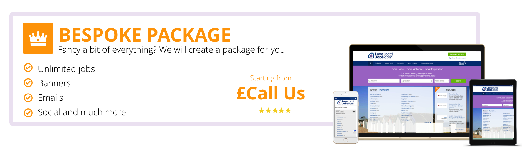 Bespoke packages